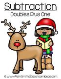Christmas Subtraction Doubles Plus One Math Center Games