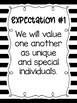 Eight Classroom Expectations {Black and White Striped}