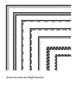 Clean Simple Borders on PowerPoint (at least 8 borders).