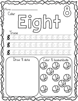 Eight Counting Worksheet