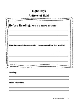 Eight Days In Haiti CLOSE Reading Packet