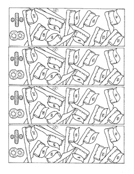 Eight Division Basic Facts Bookmarks to Color PDF Printable Toothbrushes