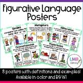 Eight Figurative Language Posters! *Similes, Metaphors, Al