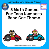 Eight Math Games For Teaching Teen Numbers -  Race Car Theme