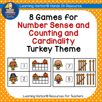 Eight Turkey Themed Games for Counting and Cardinality as