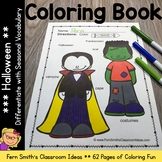 Halloween Coloring Pages - 62 Halloween Coloring Pages with Seasonal Vocabulary