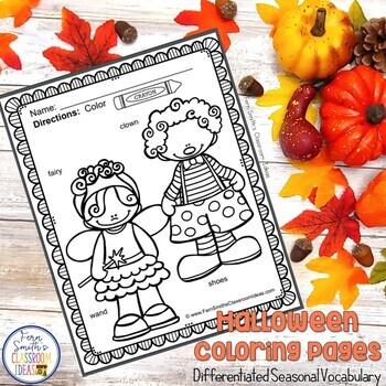 Halloween Coloring Pages - 62 Halloween Coloring Pages with Seasonal Vocabulary