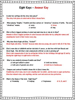 Eight Keys - Comprehension Test