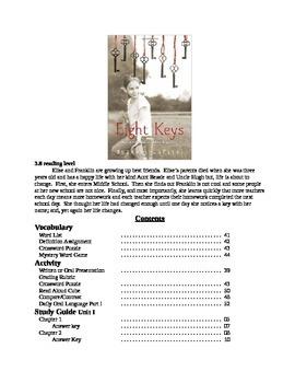 Eight Keys Suzanne LaFleur Complete Study Guide Unit