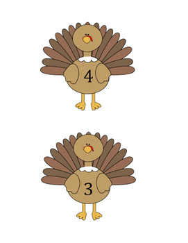 Eight Little Turkeys Poem and Puppets