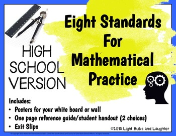 Eight Mathematical Practice Standards - High School Version