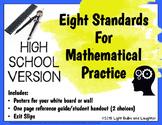 Eight Mathematical Practice Standards - High School Version