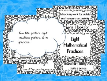 Eight Mathematical Practices Poster Set: Spotty Dots Version