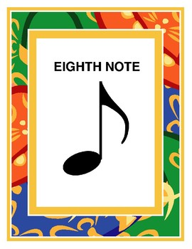 Eight Note Poster
