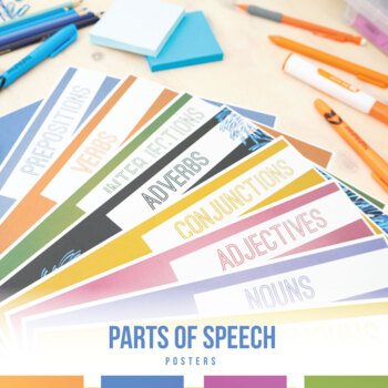 Eight Parts of Speech and Verbals Posters
