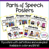 Eight Parts of Speech Posters! *Nouns, Verbs, Adjectives,