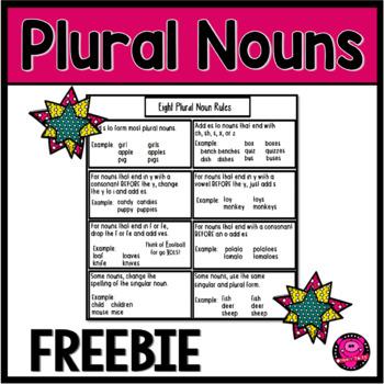 Plural Nouns Language Arts Journal Page