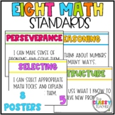 Eight Standards for Mathematical Practice Posters - Chalkboard