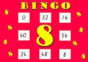 Eight Times Table Bingo - Class Set (30)