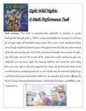 Eight Wild Nights - A Hanukkah literature / math performance task