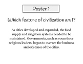 Eight features of civilization poster activity