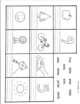 Eight long vowel (vowel blank e) worksheets