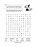 Eighth Amendment Word Search (Grades 3-5)