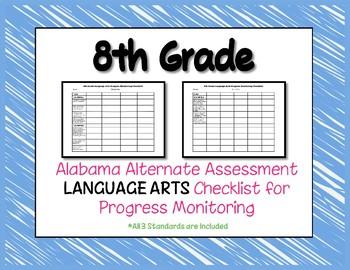 Eighth Grade AAA Language Arts Checklist Progress Monitoring