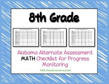 Eighth Grade AAA Math Checklist Progress Monitoring