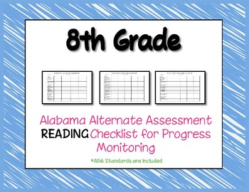 Eighth Grade AAA Reading Checklist Progress Monitoring