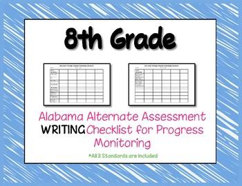 Eighth Grade AAA Writing Checklist Progress Monitoring