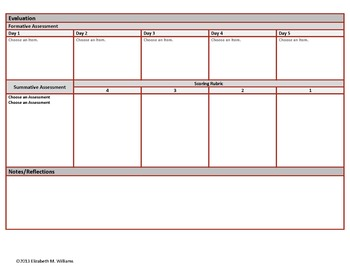 Eighth Grade Common Core Aligned Interactive Lesson Plan Templates