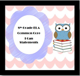 I Can Statements (Eighth Grade Common Core)