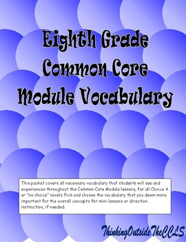Eighth Grade Common Core Module Vocabulary