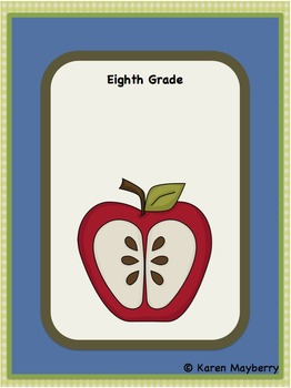 Eighth Grade Common Core Planning Template and Organizer Integrated Math Package