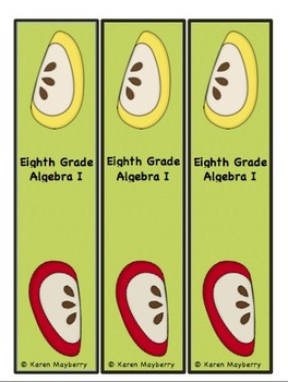 Eighth Grade Common Core Planning Template and Organizer for Algebra I