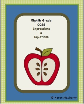 Eighth Grade Common Core Planning Template and Organizer for Math