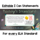 Common Core Standards I Can Statements for 8th Grade ELA