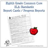 Eighth Grade ELA Common Core Progress Report / Chart