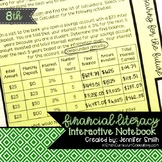 Eighth Grade Financial Literacy Interactive Notebook Align