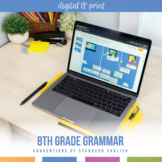 Eighth Grade Digital Grammar Bundle: Verbals, Active & Passive Voice, Mood