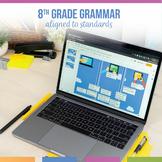 Eighth Grade Digital Grammar Bundle: Verbals, Active & Pas