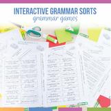 Grammar Interactive Notebook Pieces and Scrambles: Blocks Visual