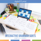 Grammar Interactive Notebook Pieces and Scrambles: Blocks Visual