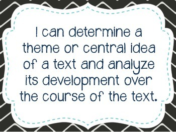 """Eighth Grade """"I Can"""" Statements LAFS & Common Core Reading"""