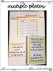 Eighth Grade Math Linear Models and Tables Interactive Notebook Unit