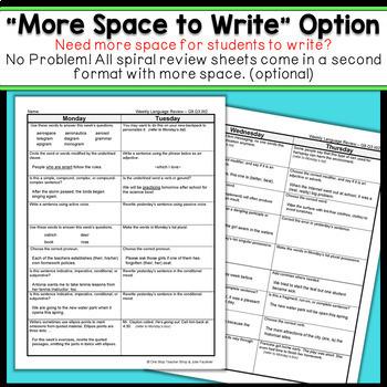 8th Grade Language Spiral Review | 8th Grade Grammar Practice | 3rd Quarter