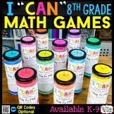 8th Grade Math Games 8th Grade Math Review 8th Grade I CAN Math Games BUNDLE