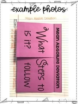Eighth Grade Math Statistics Interactive Notebook Unit