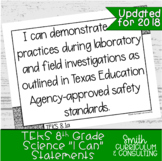 "Eighth Grade Science TEKS ""I Can"" Statements"